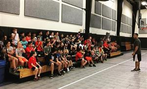 Coach Chris welcomes campers.